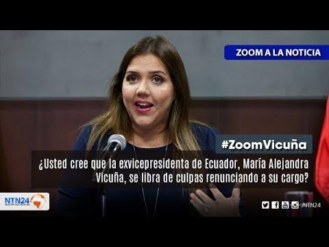 ¿Cree que la exvicepresidenta de Ecuador se libra de culpas renunciando a su cargo?
