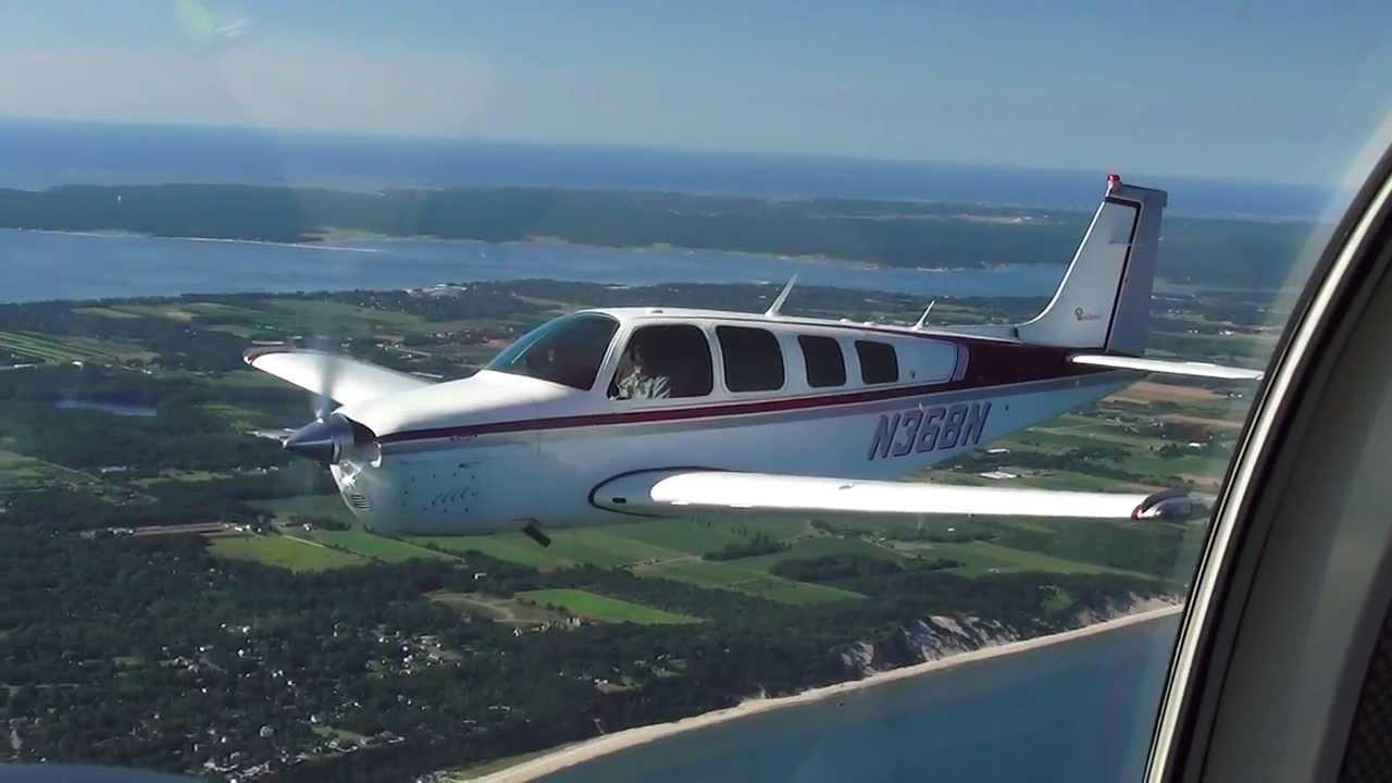 Bonanza flying in formation