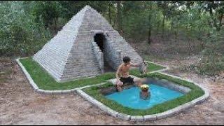 Построить пирамиды и рыбный бассейн древним умением