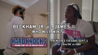 Odell Beckham vs. Charles James in Madden 16 - 2015 Hard Knocks: Houston Texans Episode 4