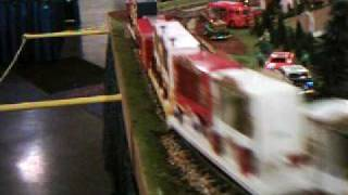 A Circus Train at Annual Trains & Railroadiana Show at the NC State Fair Grounds