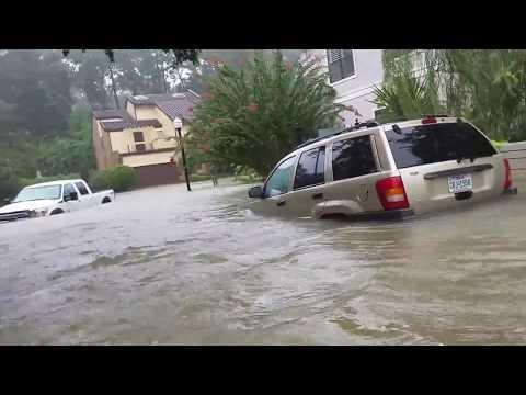 Hurricane Harvey #2 Neighborhood Close to Buffalo Bayou Underwater Houston TX