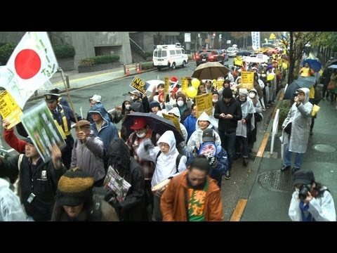Anti-nuclear demo in Tokyo as safety meet starts