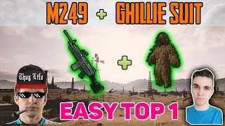 M249 + GHILLIE SUIT - Shroud and Chad win Duo FPP [NA] - PUBG HIGHLIGHTS TOP 1 #47