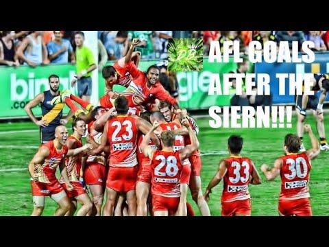 AFL Goals After The Siren!