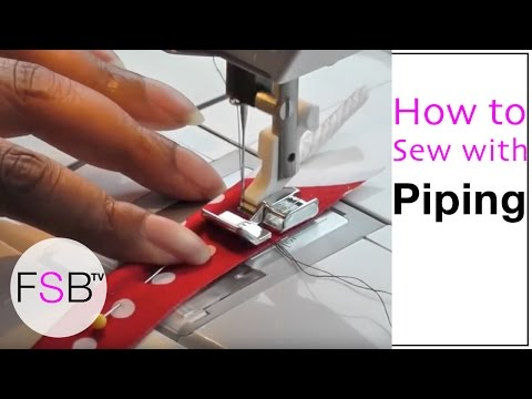 Sewing with Piping