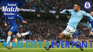Manchester City 3-1 Everton | City Punish Defensive Errors |  Match Reaction