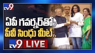PV Sindhu meet AP Governor Biswabhusan Harichandan II  LIVE