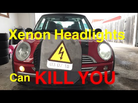 Mini Cooper R50  Xenon Headlight and Daytime Running Light Replacement!
