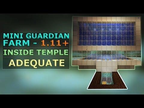 MINI GUARDIAN FARM in 1.11+ Minecraft   Inside Temple