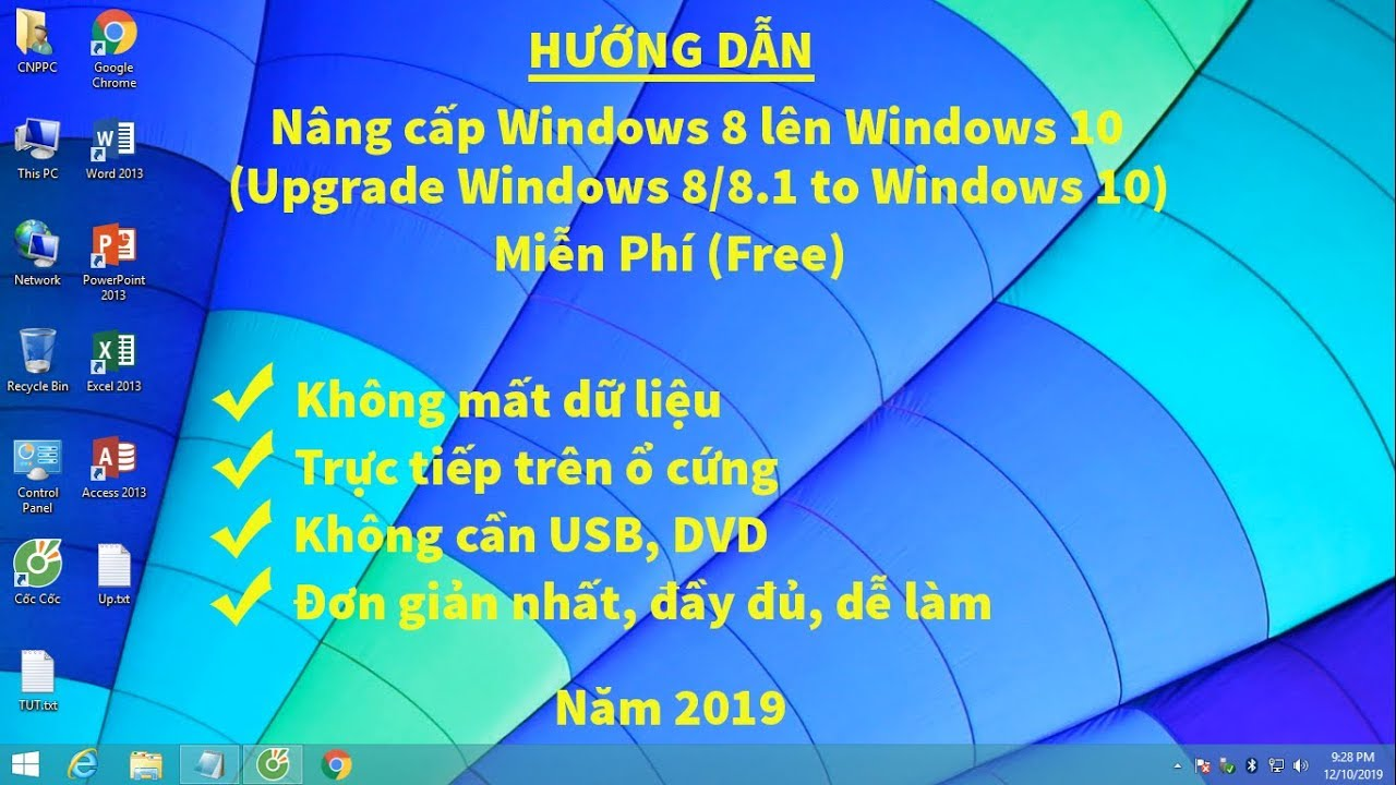 Cách nâng cấp Windows 8 lên Windows 10 miễn phí 2019 (Upgrade Windows 8/8.1 to Windows 10)