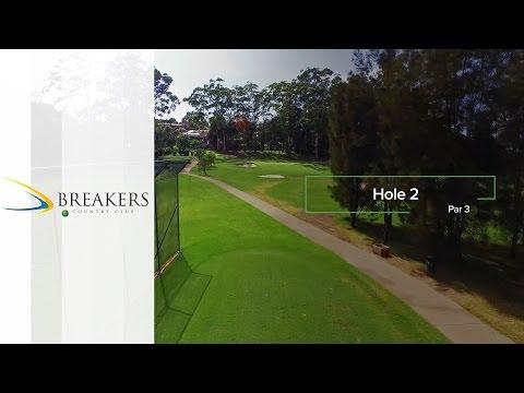 Breakers Country Club  | Hole 2 | Fairway Flyovers Australia