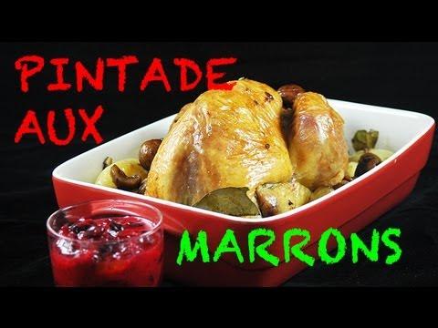 pintade-farcie-aux-marrons---recette-de-noël
