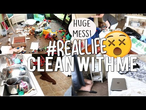 REAL LIFE EXTREME CLEAN WITH ME | DAILY CLEANING MOTIVATION