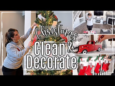 CHRISTMAS CLEAN + DECORATE WITH ME 2019 :: SPEED CLEANING MOTIVATION ✨ DECORATE OUR TREE 🎄HOME TOUR