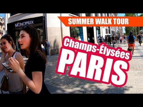 Avenue des Champs-Élysées Paris Summer Walk Tour 2019