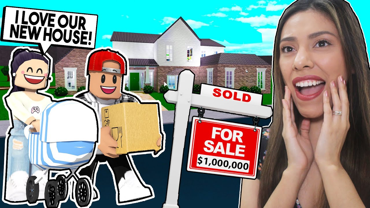Moving Into Our New Family House With Our Baby Roblox Bloxburg