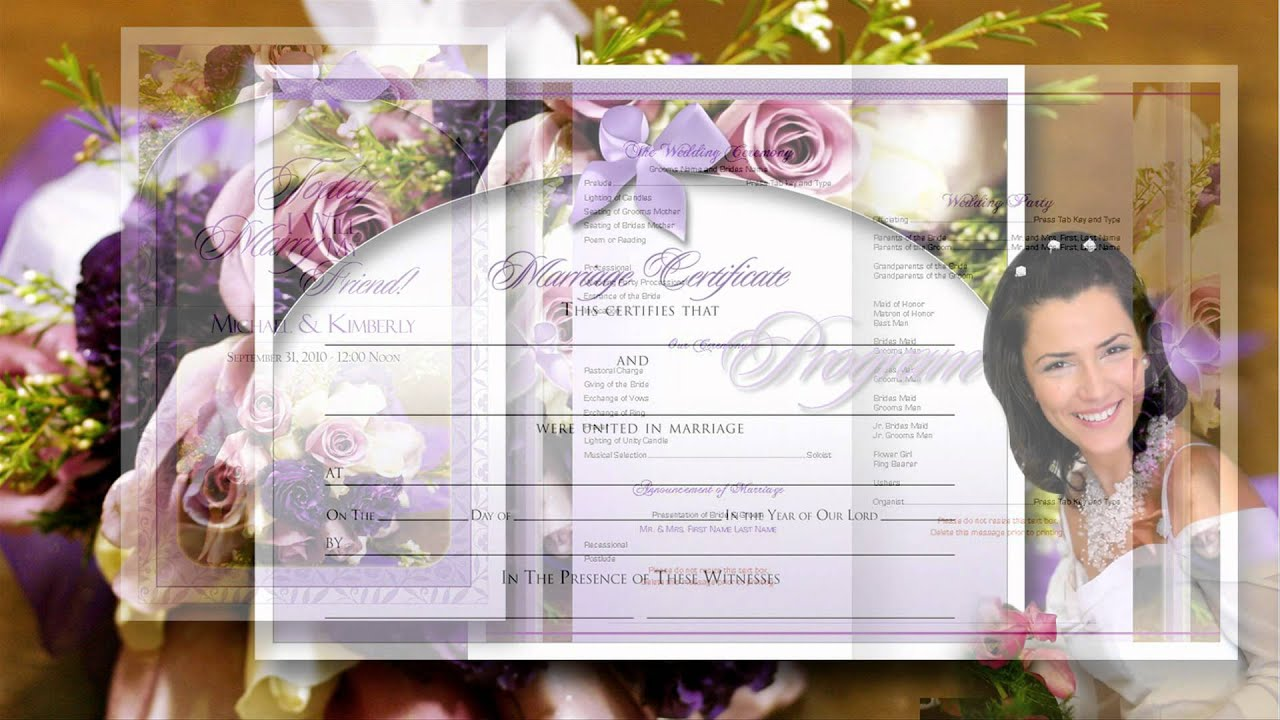 free wedding programs cheap wedding programs youtube
