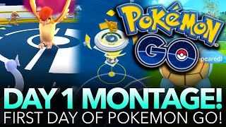 POKÉMON GO DAY 1 MONTAGE!!! w/ Toadskii