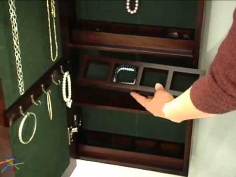 Wall Mounted Jewelry Armoire & Mirror - Product Review Video