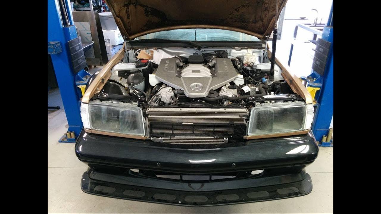 Installing a 80's Mercedes Benz 190E Body on a C63 AMG