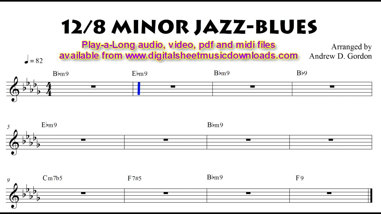 12 8 time minor jazz blues full band play a long to practice with youtube. Black Bedroom Furniture Sets. Home Design Ideas