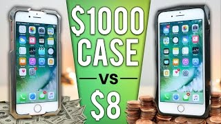 $8 iPhone Case vs $1000 Case DROP Test! thumbnail