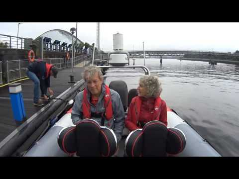 A bespoke City Sightseer for these two young love birds. Book yours www.powerboatsglasgow.com