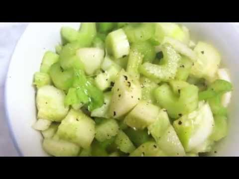 30 Secs to RAW FOOD: Light & Refreshing Cucumber Celery Asian Salad!
