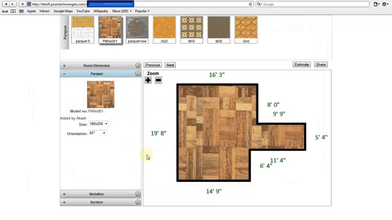 HTML5 based Floor Planner Application by PosinTechnologies
