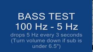 [Đestroÿer] - Bass Test 100 Hz to 5 Hz Ultimate Subwoofer Bass Test