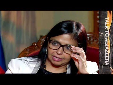 Delcy Rodriguez: No humanitarian crisis in Venezuela - Talk to Al Jazeera