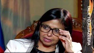 Delcy Rodriguez: No humanitarian crisis in Venezuela - Talk to Al Jazeera thumbnail