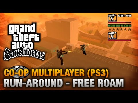 GTA San Andreas - PlayStation 3 - Run-around (Free Roam) Co-Op Gameplay