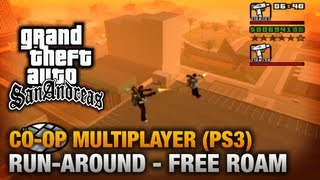 GTA San Andreas - PlayStation 3 - Run-around (Free Roam) Co-Op Gameplay