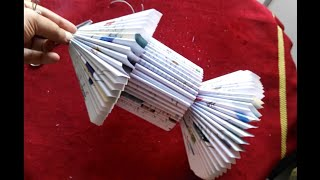 The best way to make lantern paper from old books
