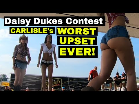 Daisy Duke contest UPSET at the 2018 Carlisle Chrysler Nationals