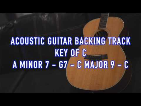 Acoustic Guitar Backing Track - Key of C