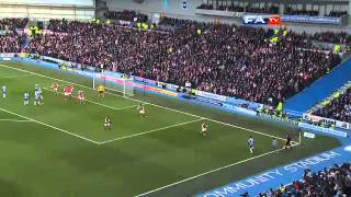 Brighton & Hove Albion 2-3 Arsenal | The FA Cup 4th Round 2013