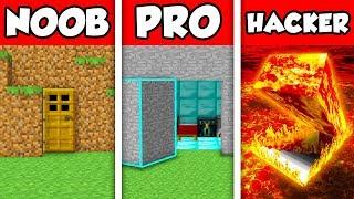 Minecraft NOOB vs PRO vs HACKER : HIDDEN HOUSE BUILD CHALLENGE in Minecraft Animation!