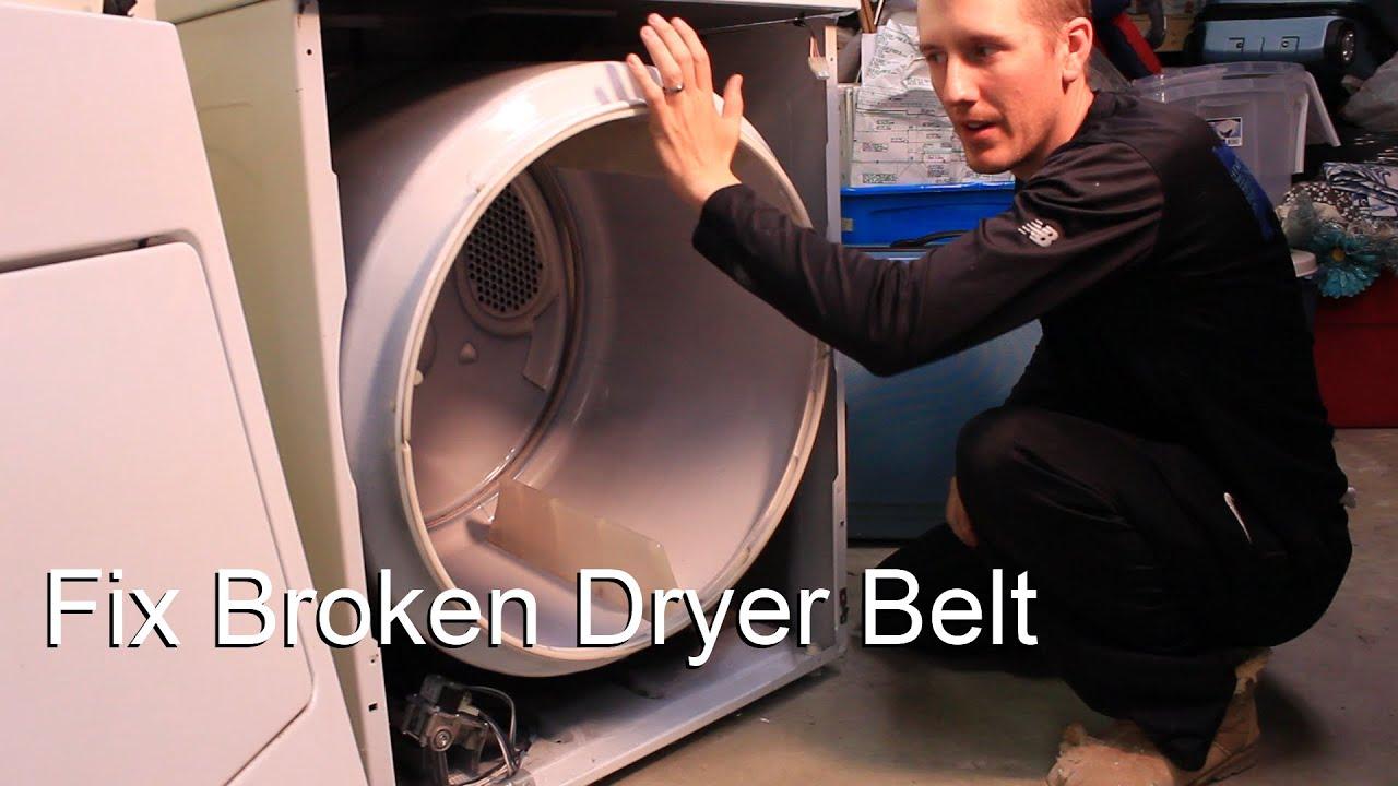 Fix Broken Dryer Belt You