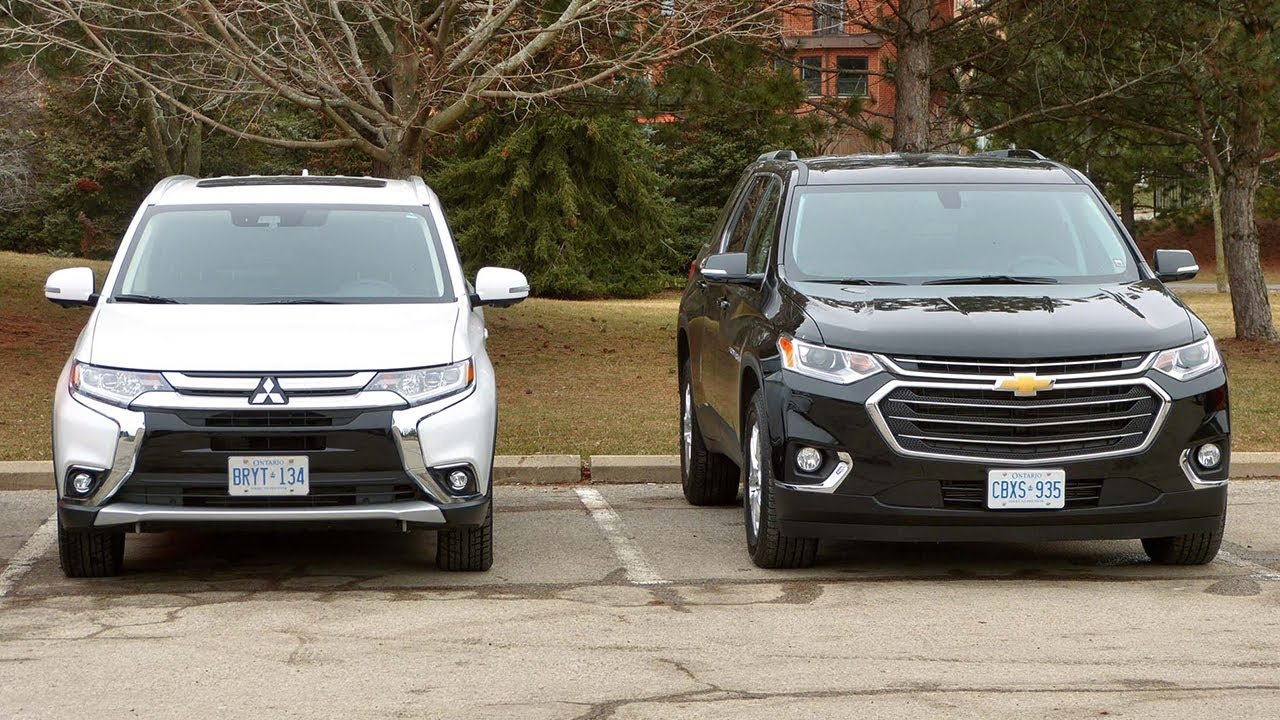 2018 Mitsubishi Outlander Vs Chevrolet Traverse Technical Specidications
