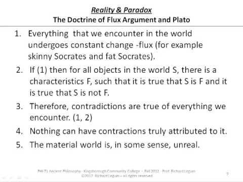 6b4. Heraclitus, Plato & Skepticism
