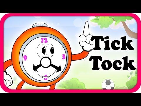 Tick Tock Merrily Sings The Clock Lyrical Video | English Nursery Rhymes Lyrics For Kids & Children