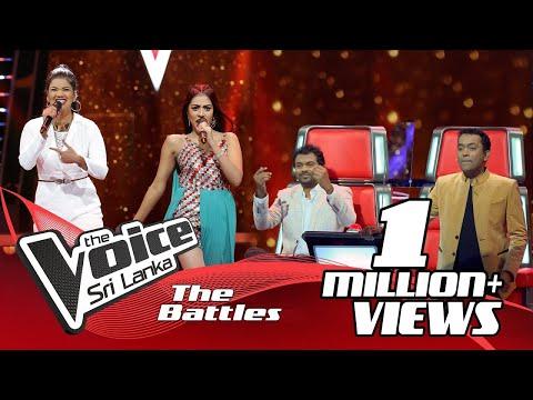 The Battles : Thamodya Athuraliya VS Rozanne De Zoysa  | Hanthane (හන්තානේ) | The Voice Sri Lanka