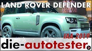 IAA 2019: Land Rover Defender NEU 2020 Weltpremiere in Frankfurt | Rundgang | Messe | Deutsch