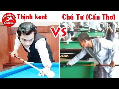 Thịnh kent vs Chú Tư Đạo (Cần Thơ) - giao lưu 2 thế hệ - bida phăng 당구