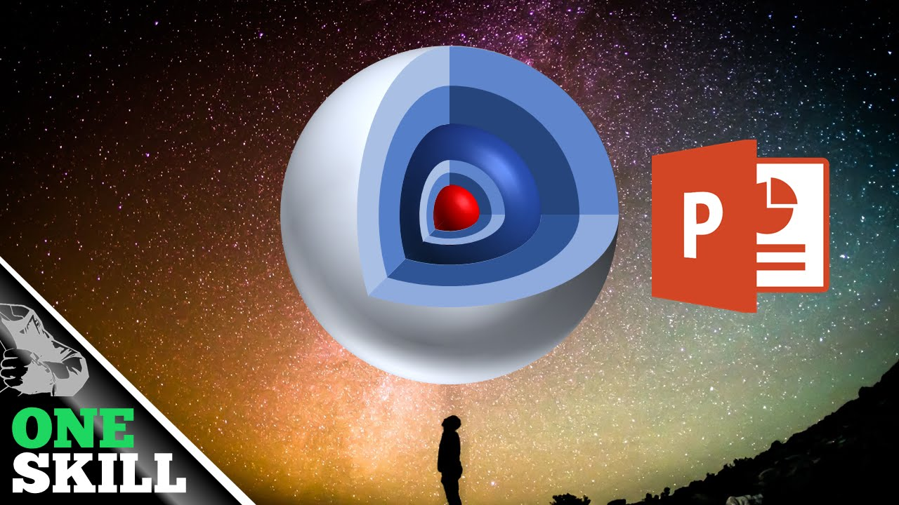 free 3d core sphere powerpoint template