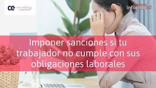 Sanciones a los trabajadores | Asesor Informa 3.0