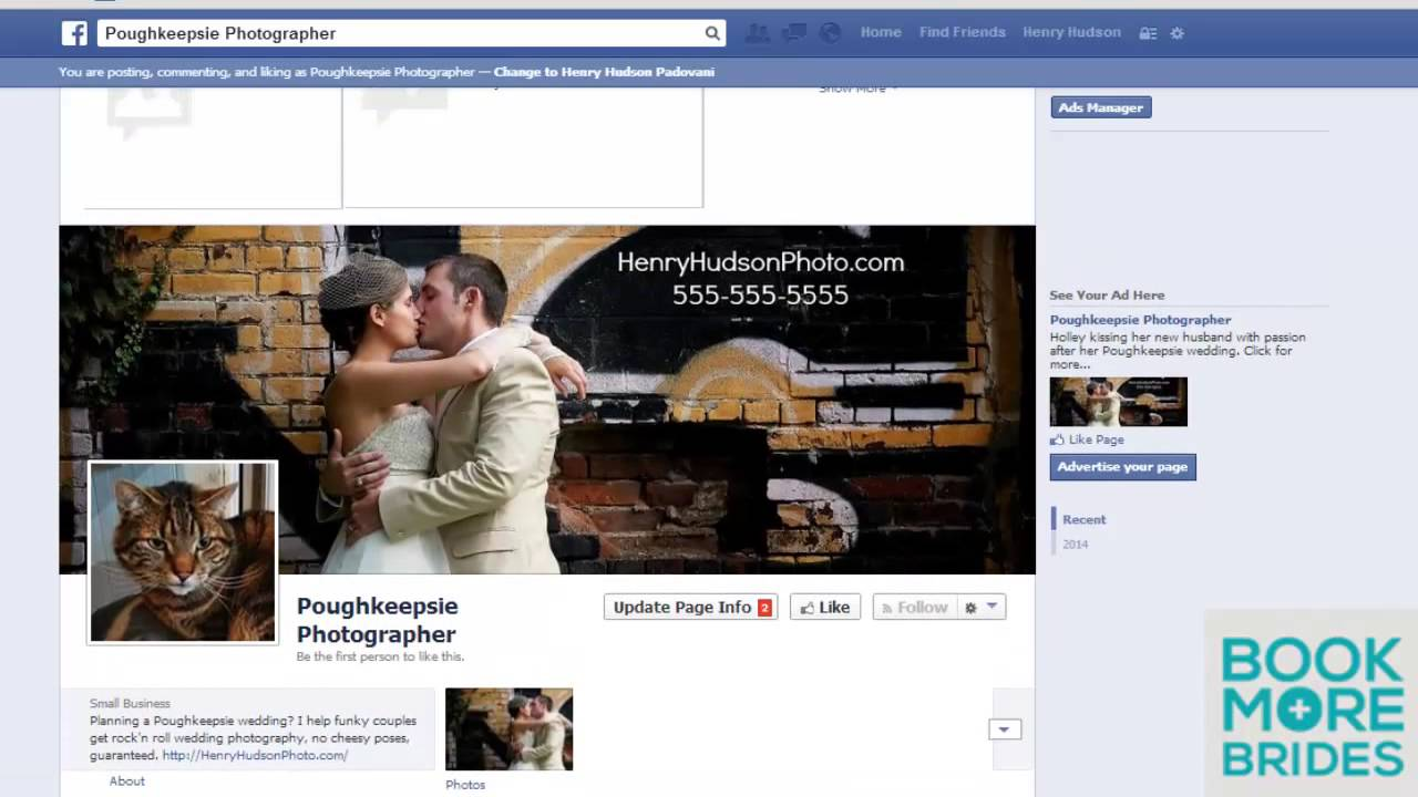 how to set up facebook page for your wedding business youtube